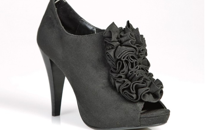 Suede ruffled bootie from FERGALICIOUS