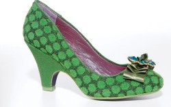 Velvet low-heel pump with polka dots by POETIC LICENCE