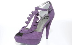 G BY GUESS&#8217 peep-toe ankle-strap platform in suede