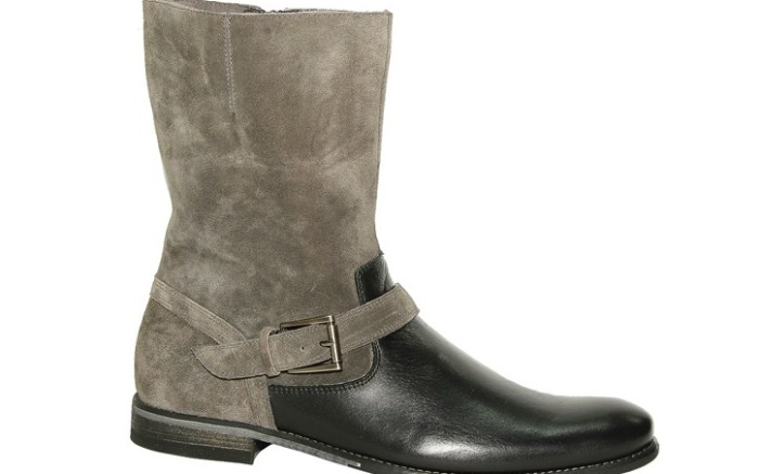 Suede-and-leather boot by HUSH PUPPIES