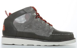 Hiker-influenced shoe with suede leather and mesh by LACOSTE
