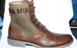 LOUNGE BY MARK NASON&#8217s army boot in canvas and antiqued leather