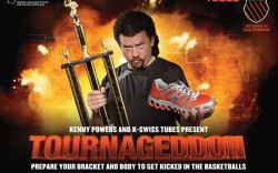 K-Swiss is hosting a unique March Mad- ness bracket in its latest campaign with fictitious spokesperson Kenny Powers from the HBO show &#8220Eastbound & Down&#8221