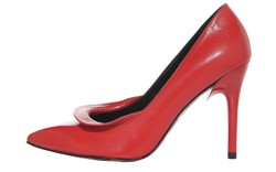 Leather version with sculpted heel by GEORGINA GOODMAN