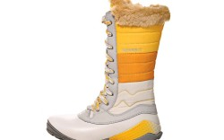 MERRELL&#8217s lace-up mid-height boot with fur trim
