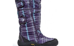 LAFUMA&#8217s plaid boot with hook-and-loop closure