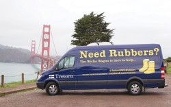 Tretorn is taking its business on the road with the Wellie Wagon a mobile shop that offers product to customers in need of a new pair of rubber boots