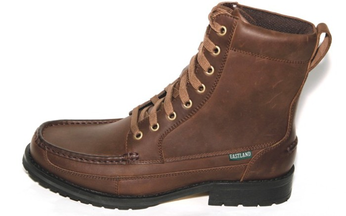 EASTLAND&#8217s oiled leather boot with padded collar