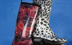 KAMIK&#8217s paisley boot and DAV&#8217s leopard print version show how to keep dry while looking pretty