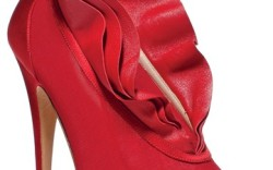 Casadei silk satin tulle and leather bootie