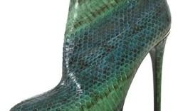 Roberto Cavalli snakeskin bootie