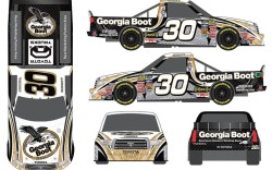 Georgia Boot has partnered with Germain Racing a participant in the NASCAR Camping World Truck Series