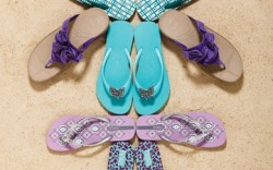The flip-flop category is expanding its reach beyond the beach this fall