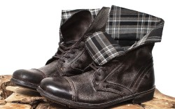 Classic mens outerwear provides the basis for a new footwear collection launching this fall