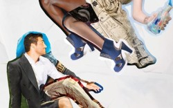 On her CRI DE C&#338UR&#8217s recycled PET ultrasuede bootie On him SIMPLE&#8217s lace-up- sneaker with recycled car tire-blend outsole