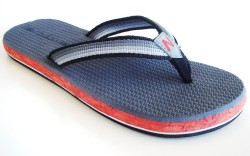The first products to use PlusFoam were flip-flops made by New Balance licensee Klone Lab above for fall &#821710