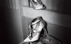 From top LAUREN JONES&#8217 embellished peep-toe platform and POUR LA VICTOIRE&#8217s T-strap pump with bows