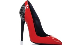 Versace patent leather studded pump