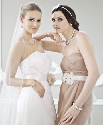 The Nina Bridal line includes a full range of veils jewelry sashes and more