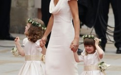 Maid of Honor Pippa Middleton and bridesmaids.
