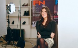 Rachel Fishbein on set