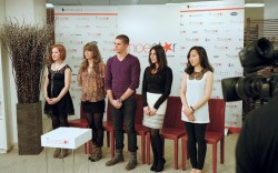The contestants await the verdict