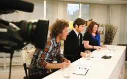 The judges&#8217 panel evaluates the students
