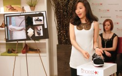 Hyojin Choi presenting her design to the judges