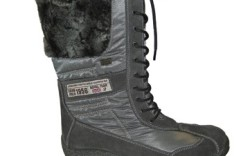 Front-laced faux-fur boot by RIEKER