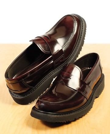 PRADA&#8217s chunky-sole penny loafer