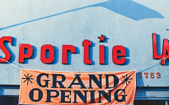 Sportie LAs first store opens at 7753 Melrose Ave in West Hollywood in 1985