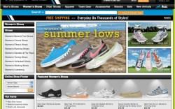 Finish Line&#8217s e-commerce site