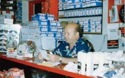 Asher Fadlon mans the register