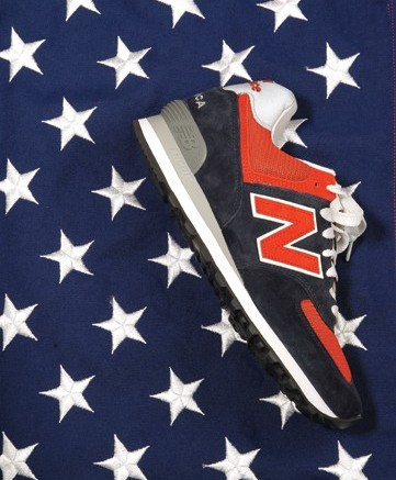A 574 running shoe from New Balance&#8217s customizable made-in-America line