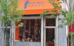Neighborhood vibe Located on bustling Chestnut Street in Center City Blue Sole Shoes is surrounded by a variety of shops restaurants and cultural attractions