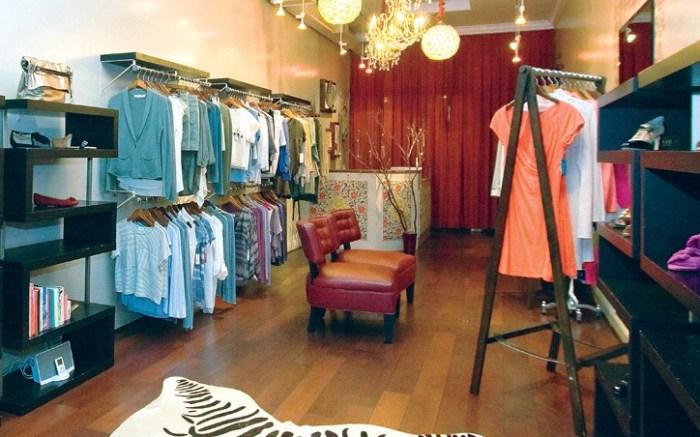 The feminine interior of the Crimson Mims original store