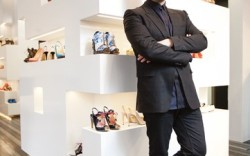 Kirkwood photographed on May 22 in his new London boutique