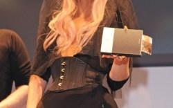 Lady Gaga with her Polaroid camera