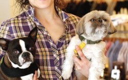 Adele Berne and her dogs