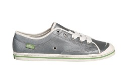 Silver suede low-top with ribbon laces from SIMPLE