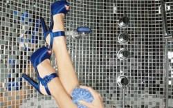 NINA&#8217s satin platform sandals