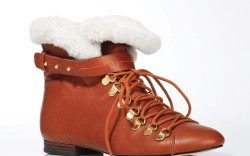 BE&D&#8217s lace-up bootie with gold hardware