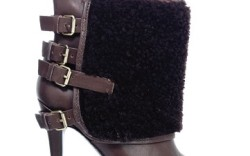 Stiletto bootie with shearling panel by PELLE MODA