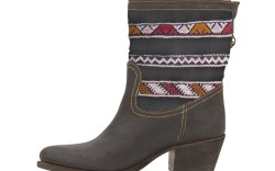 Cobra Society designer Alex Davis has combined modern geometric shapes with traditional woven designs to create her debut collection of boots for fall &#821711