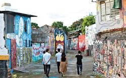 The Havaianas film crew walks the streets of Brazil