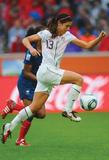 22-year-old Nike-adorned athlete Alex Morgan, of the U.S. women's national soccer team.