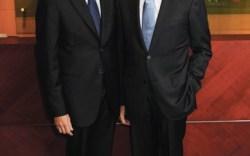 Larry and Jim Tarica in Frye&#8217s New York showroom