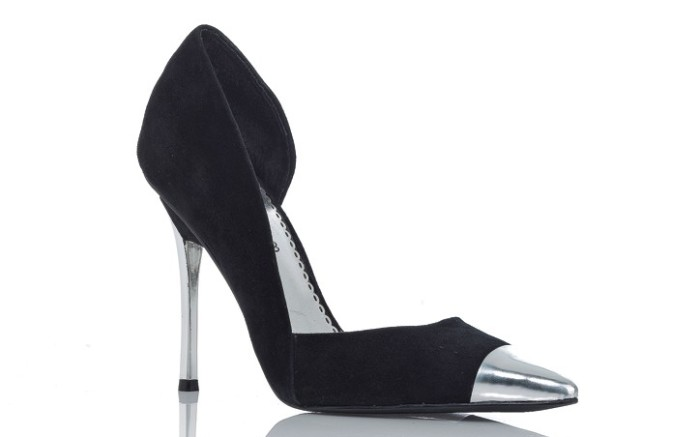 D&#8217Orsay pump with silver heel and toe by BEBE