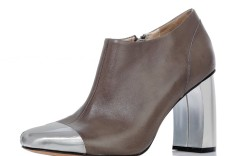 Jean-Michel Cazabat&#8217s chunky-heeled bootie with silver toe