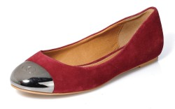 Crimson flat with embossed toe plate by Kelsi Dagger